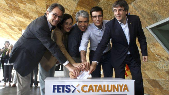 Carles Puigdemont, Artur Mas y Francesc Homs