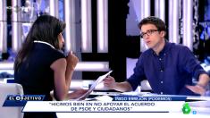 Íñigo Errejón, en el programa El Objetivo de La Sexta.