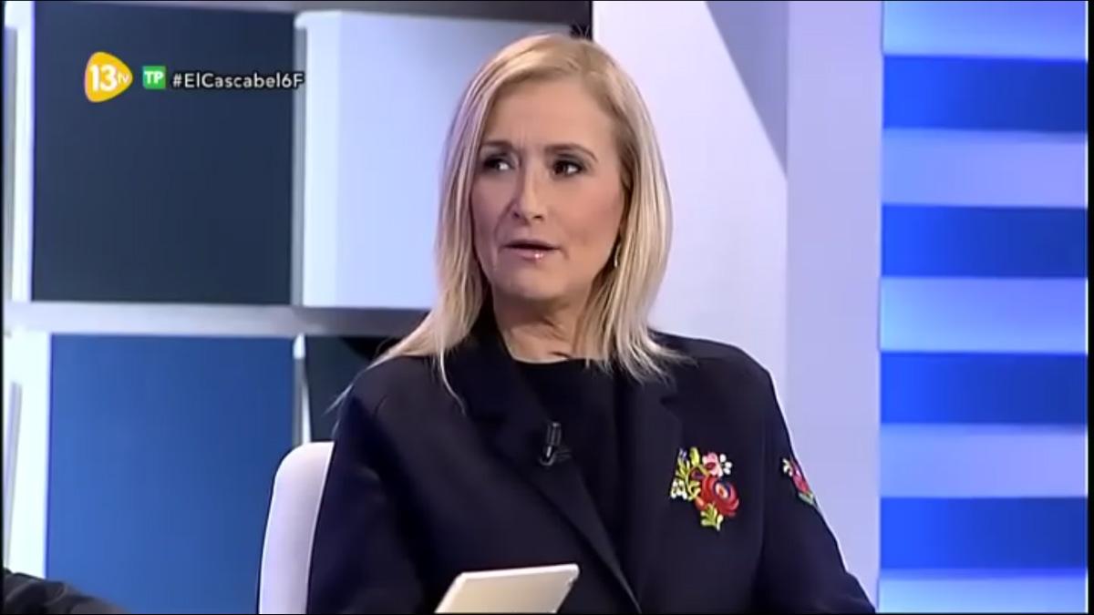 La presidenta Cristina Cifuentes en 13tv.