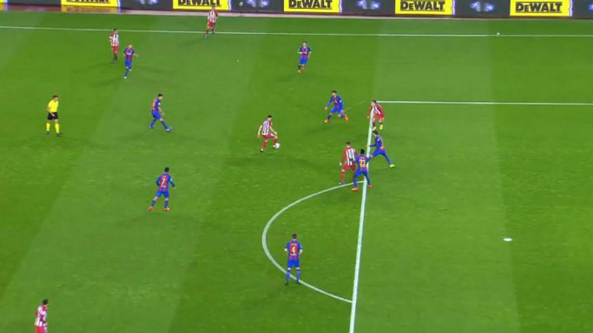 Griezmann no estaba en fuera de juego durante el Barcelona – Atlético.