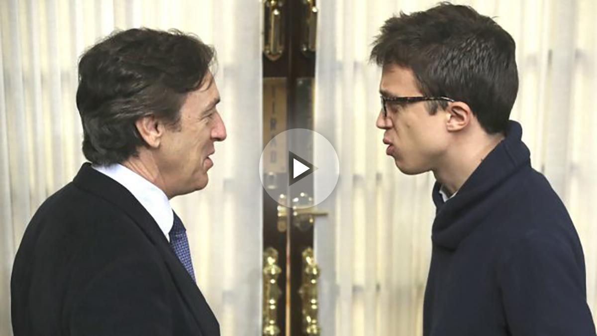 hernaLos portavoces del PP y Unidos Podemos en el Congreso, Rafael Hernando (i) e Íñigo Errejón (Foto: Efe)