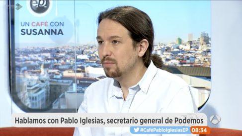 Pablo Iglesias en 'Espejo Público'.