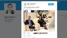 Este es el tuit con el que Pedro J. Ramírez presentó en sociedad a su nueva pareja.