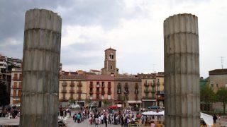 Plaza principal de la localidad barcelonesa de Súria.