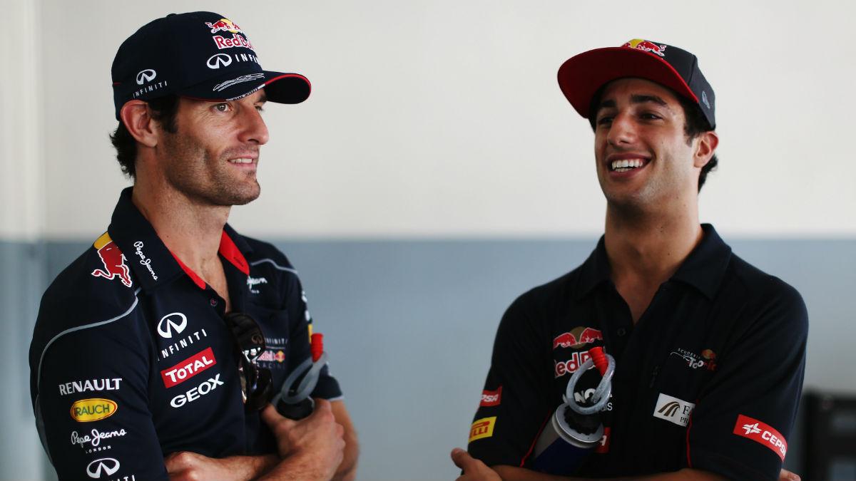 Mark Webber se ha mostrado confiado en que Daniel Ricciardo se las arregle para contener a su talentoso compañero Max Verstappen este año. (Getty)