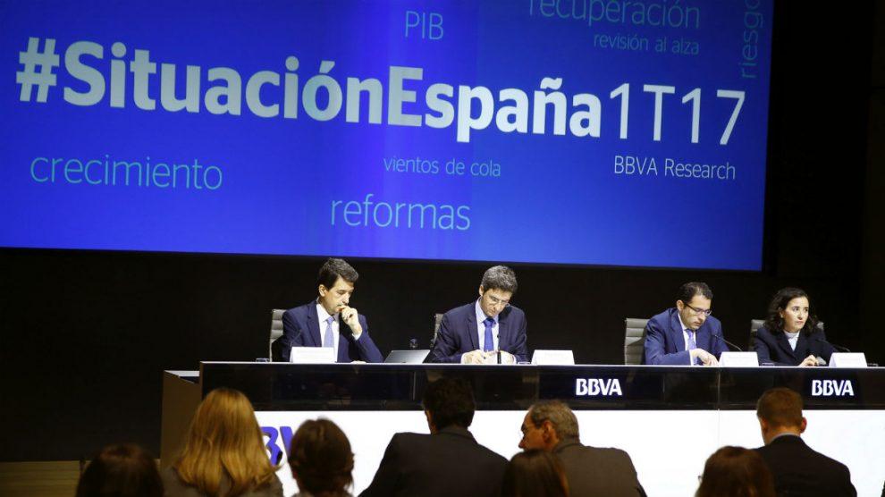 Presentación del informe Situación España, de BBVA Research (Foto: EFE).