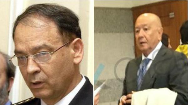 Los comisarios Eugenio Pino y Martín Blas.