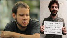 El Betis condena los insultos contra su plantilla de Pablo Hasél (izquierda) y Julián Moreno (derecha).