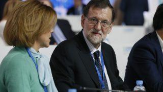Mariano Rajoy, con Cospedal, en el XVIII Congreso Nacional del PP.