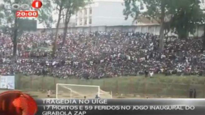 Una avalancha deja 17 muertos y 56 heridos en un campo de fútbol de Angola