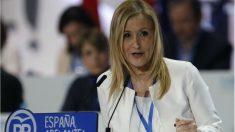 Cristina Cifuentes, presidenta del XVIII Congreso Nacional del PP, este viernes.