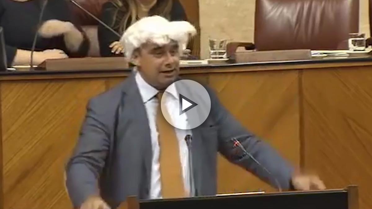 El diputado andaluz y rival de Iglesias, Juan Moreno Yagüe. (Foto: Youtube)