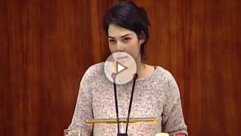 La diputada de Podemos en la Asamblea de Madrid, Isabel Serra (Foto: Youtube)
