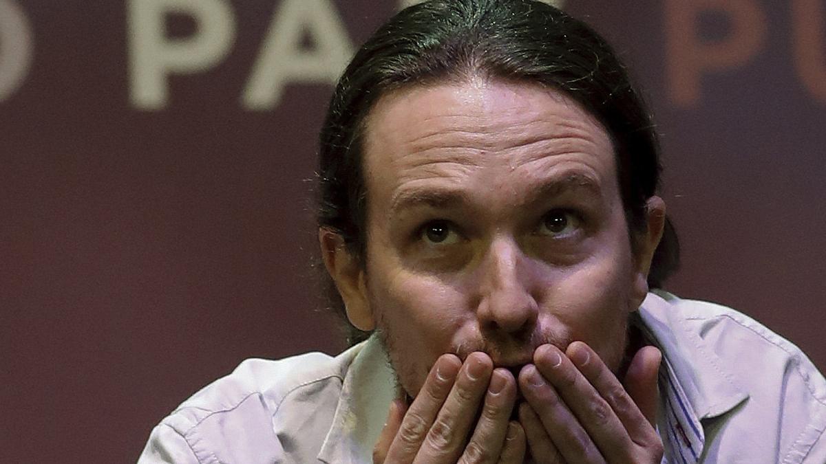Pablo Iglesias durante su tercera intervención en Vistalegre 2. (Foto: EFE)