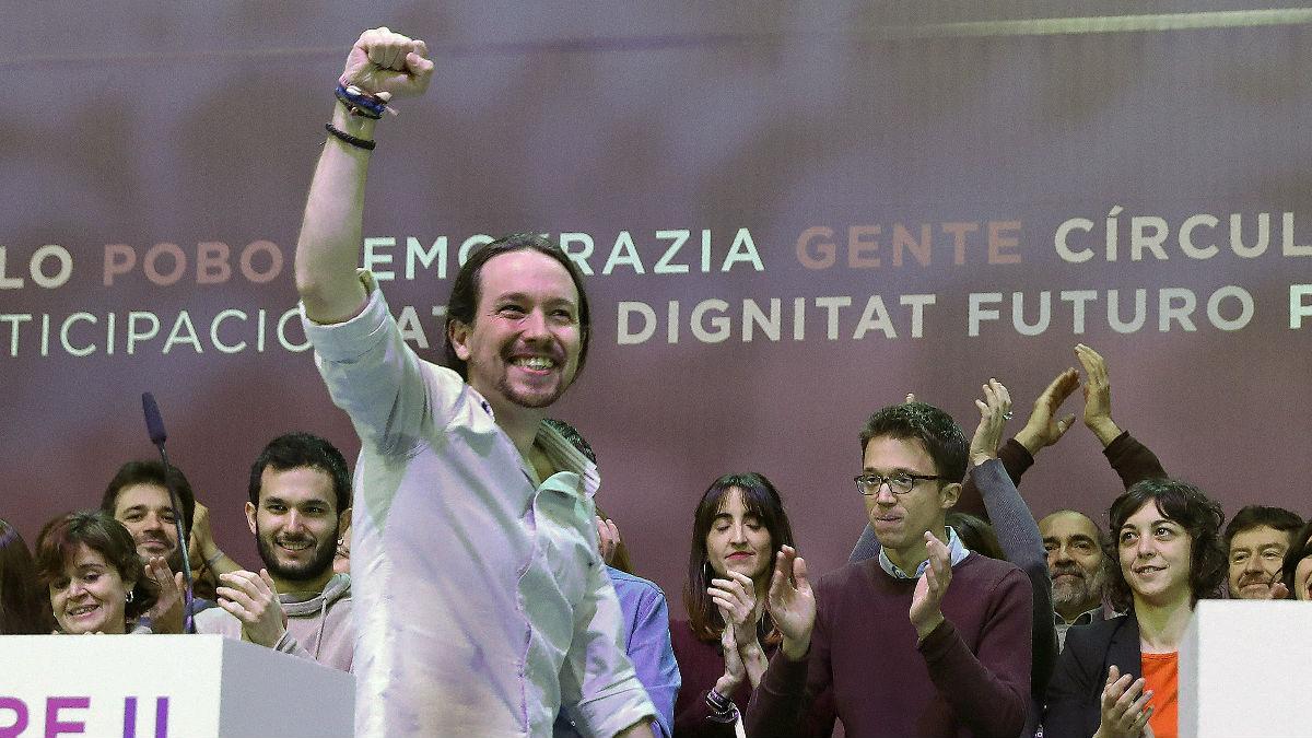 Pablo Iglesias en Vistalegre. (Foto: EFE)