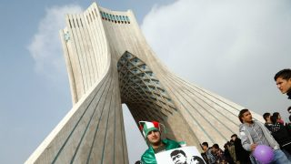 La Torre Azadi, en Teherán, capital de Irán. (AFP)