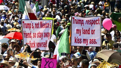 Manifestación este domingo en Ciudad de México (Foto: AFP).