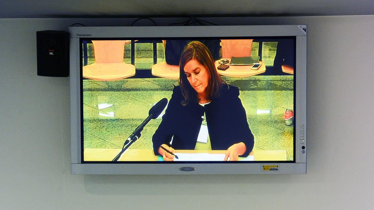 Ana Mato, en el juicio de la Gürtel. (Foto: EFE)