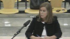 La ex ministra Ana Mato, cuando declaró como beneficiaria a título lucrativo en el juicio de Gürtel.