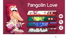 Google dedica un Doodle interactivo, a modo de juego, al pangolín, un curioso animal en peligro de extinción.
