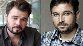 Gabriel Rufián y Jordi Évole.