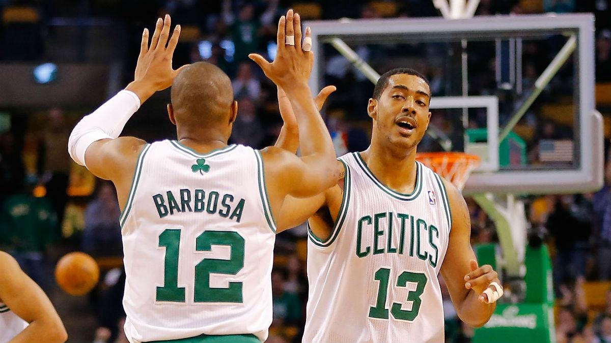 Fab Melo, en un partido con los Celtics. (AFP)