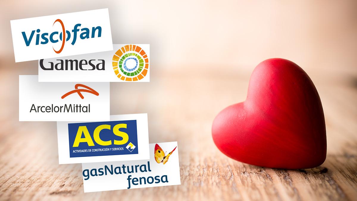 Estas son las empresas más queridas del Ibex 35 en el día de San Valentín.