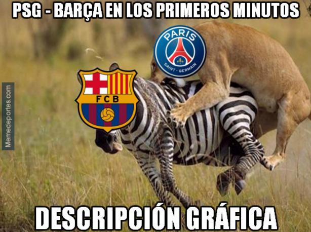 Los memes se mofan de la humillante derrota del Barcelona