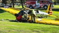 Así quedó el avión de Harrison Ford tras un aterrizaje de emergencia realizado en el año 2015. (Foto: Getty)