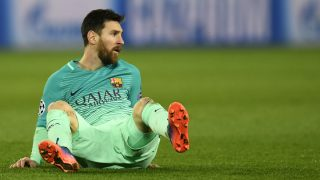 Messi, en el partido contra el PSG. (AFP)