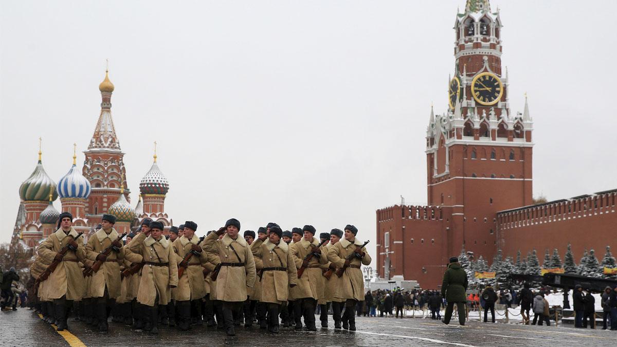 Ejército de Rusia en la Plaza Roja de Moscú (Foto: Getty)