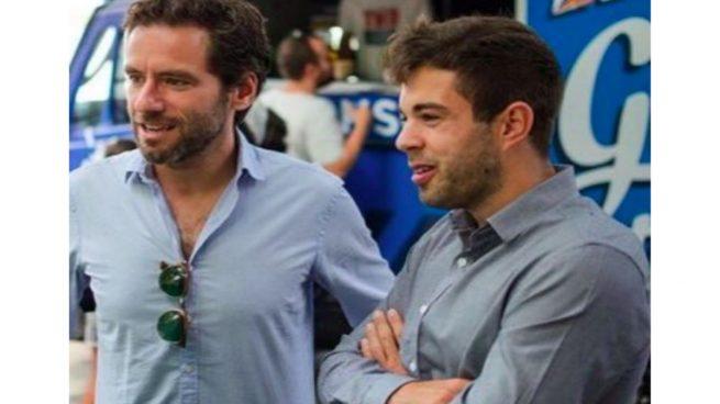 Alejandro Sáenz, con Borja Sémper, portavoz del PP en el Parlamento vasco.