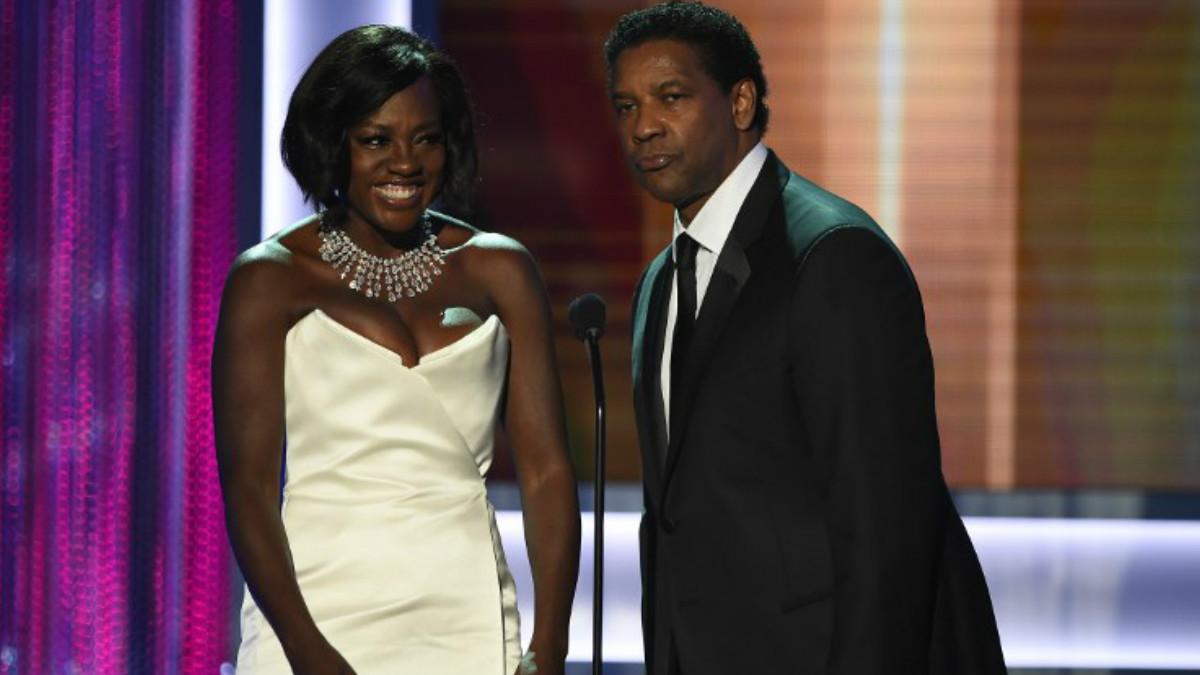 Viola Davis y Denzel Washington. Foto: AFP