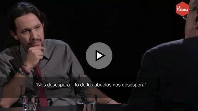 Iglesias echa la culpa a los mayores que votan al PP