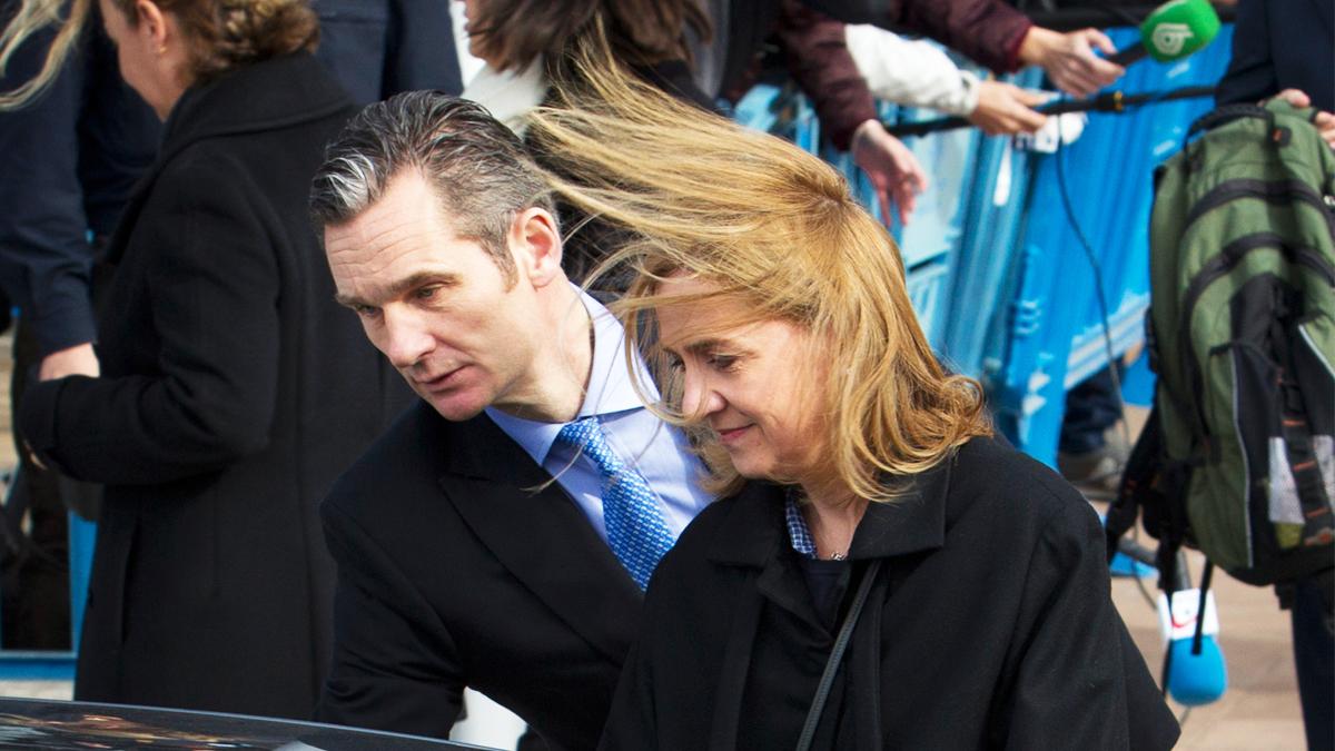 Urdangarin y la infanta Cristina. (Foto: AFP)