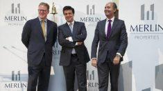 Directivos de Merlin Properties en la salida a Bolsa.