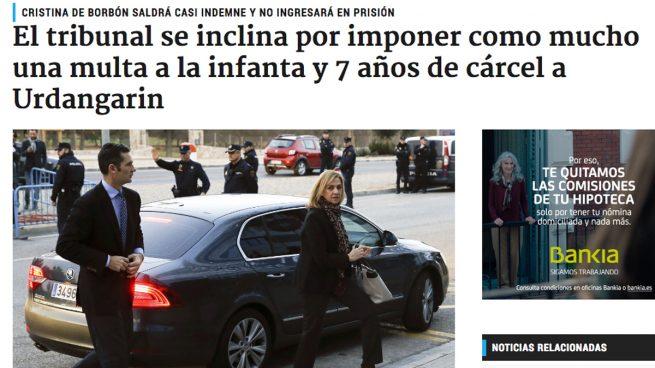 OKDIARIO ya avanzó que Cristina no sería condenada y a Iñaki le caerían casi 7 años