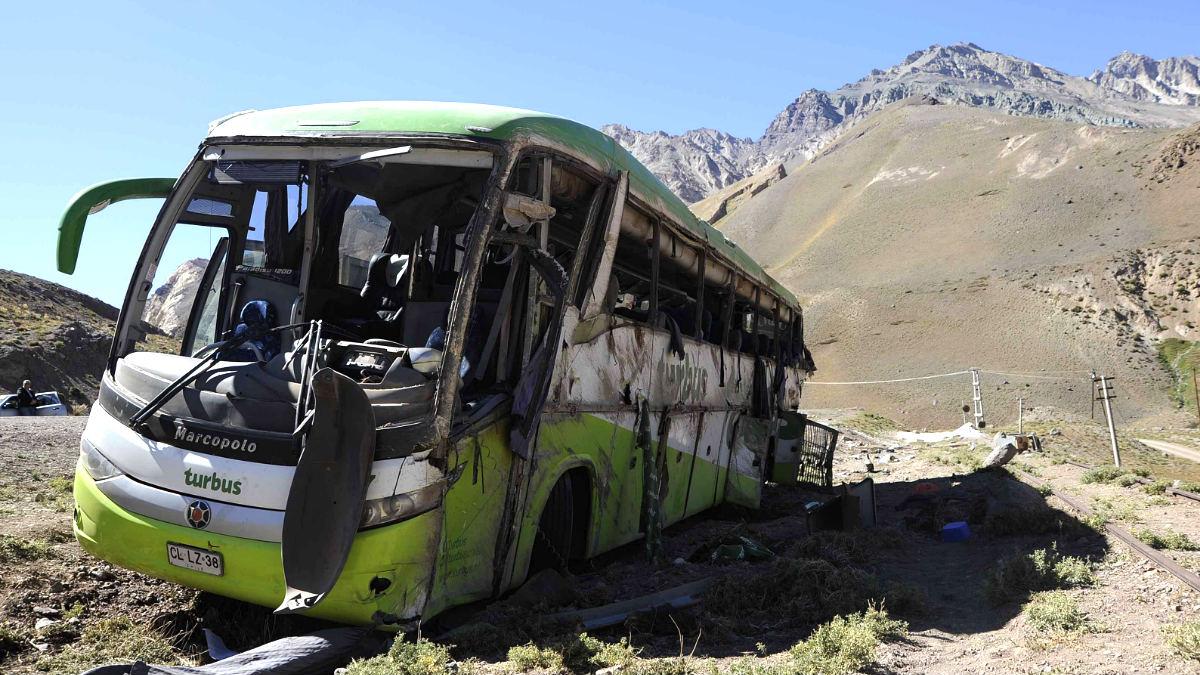 Imagen del autobús siniestrado (Foto: AFP).