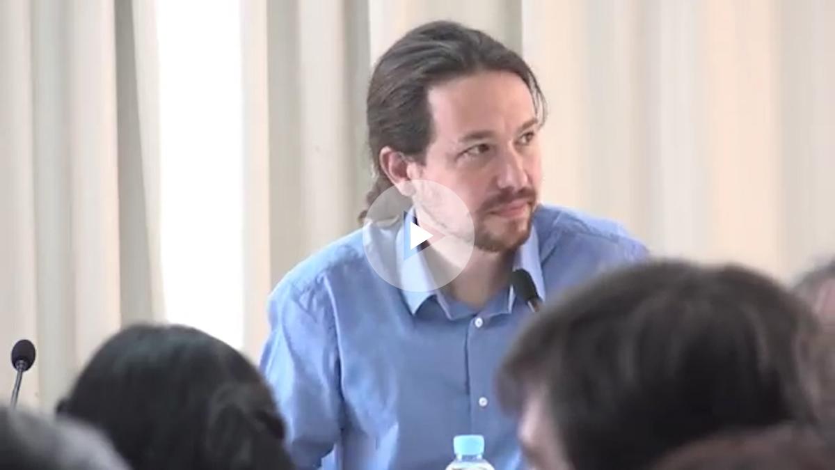 Pablo Iglesias durante su intervención en el Consejo Ciudadano. (Foto y Vídeo: Enrique Falcón)