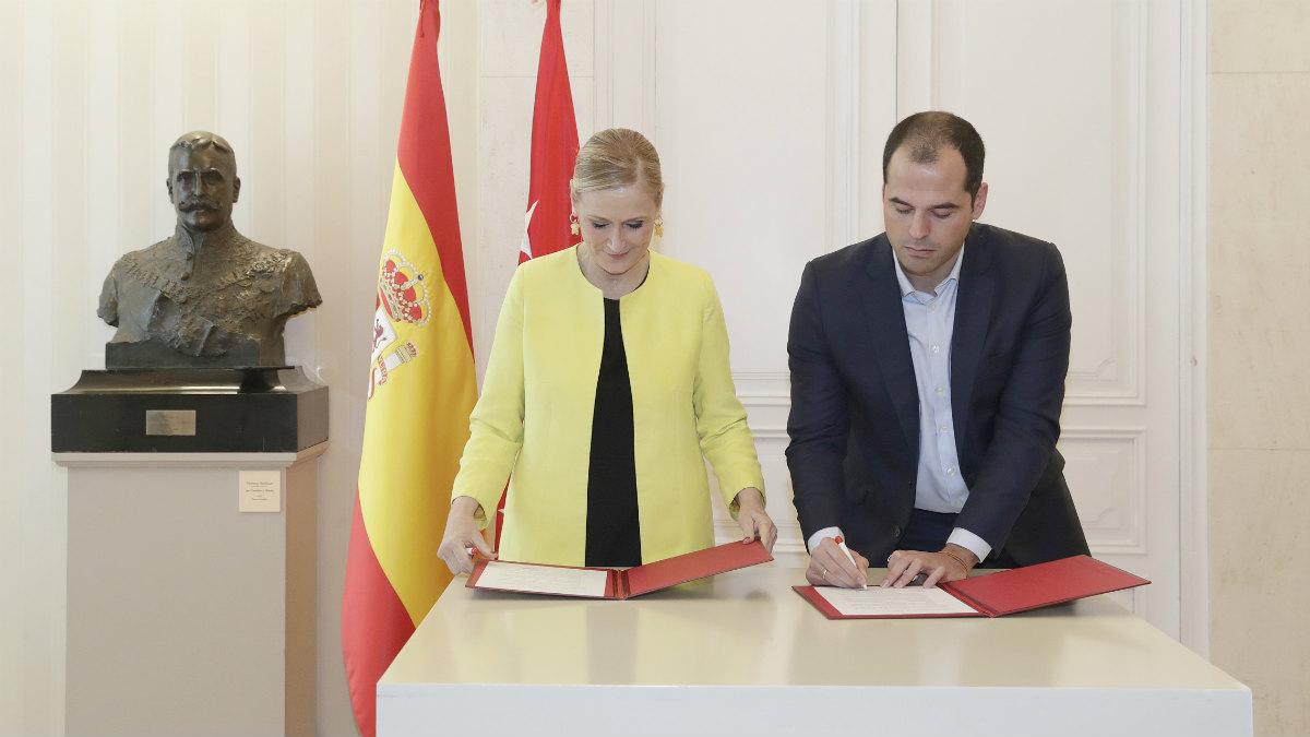 Cristina Cifuentes e Ignacio Aguado (CAM).
