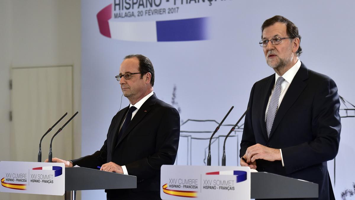 François Hollande y Mariano Rajoy (Foto: AFP)