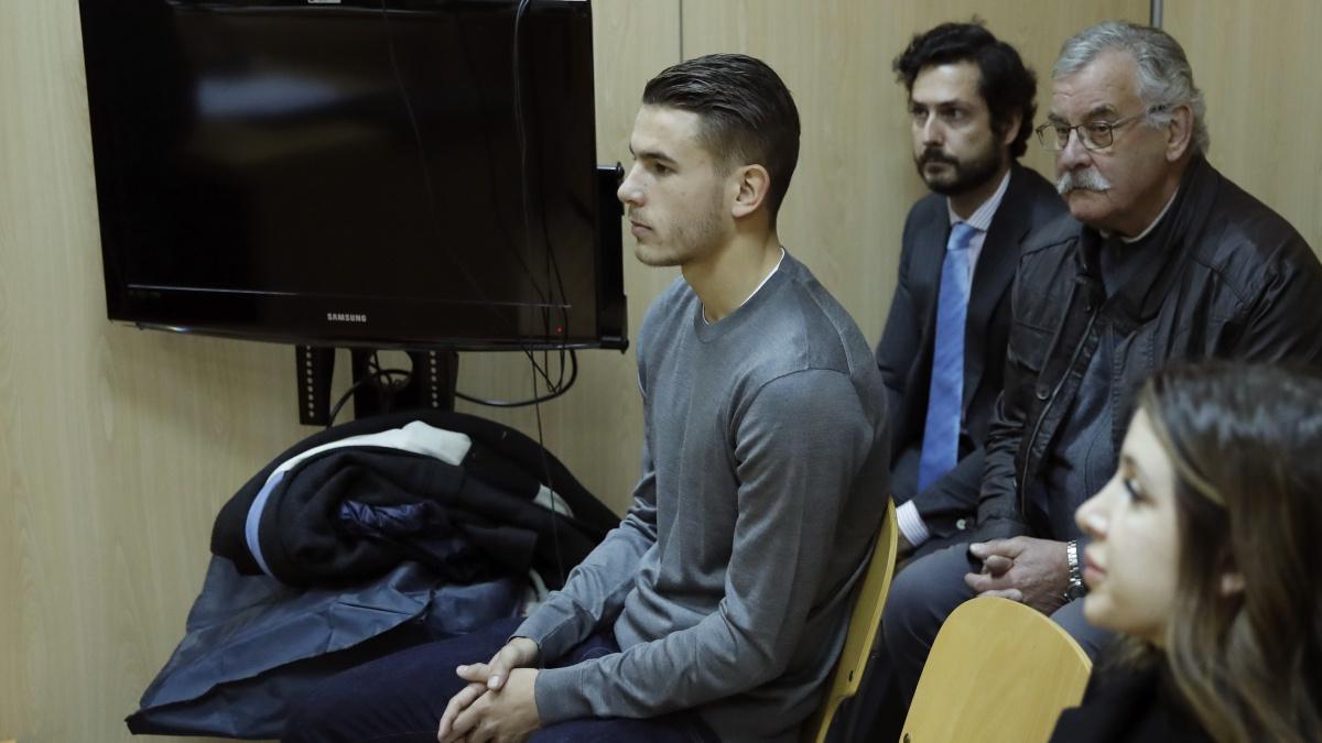 Lucas Hernández presta declaración durante el juicio rápido