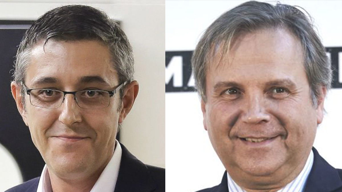 Los socialistas Eduardo Madina y Antonio Miguel Carmona. (Foto: OKD)