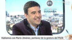 El portavoz de la gestora del PSOE, Mario Jiménez, en 'Espejo Público' (Foto: Twitter)