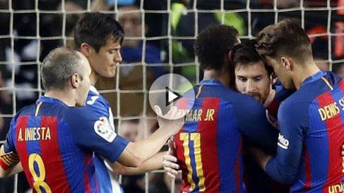 Barcelona vs Leganés: Leo Messi, Iniesta, Neymar