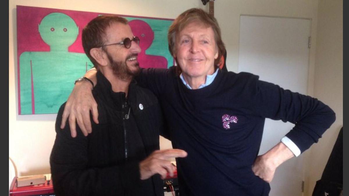 Ringo Starr y Paul McCartney de nuevo en el estudio.