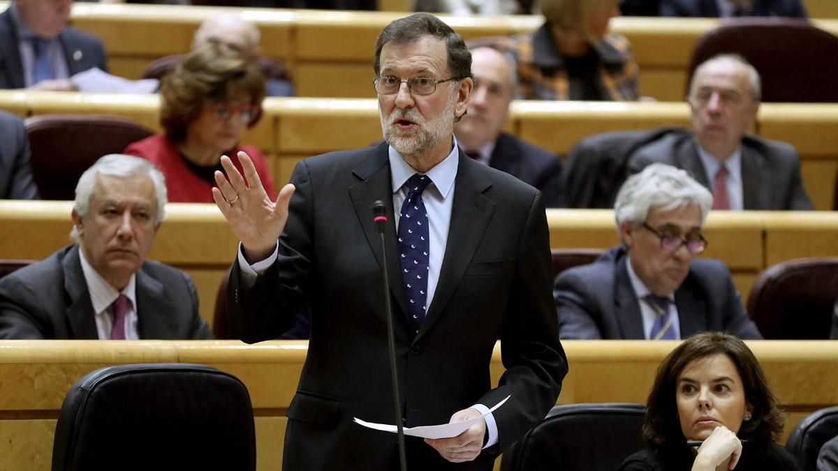 Mariano Rajoy en el Senado. (Foto: EFE)