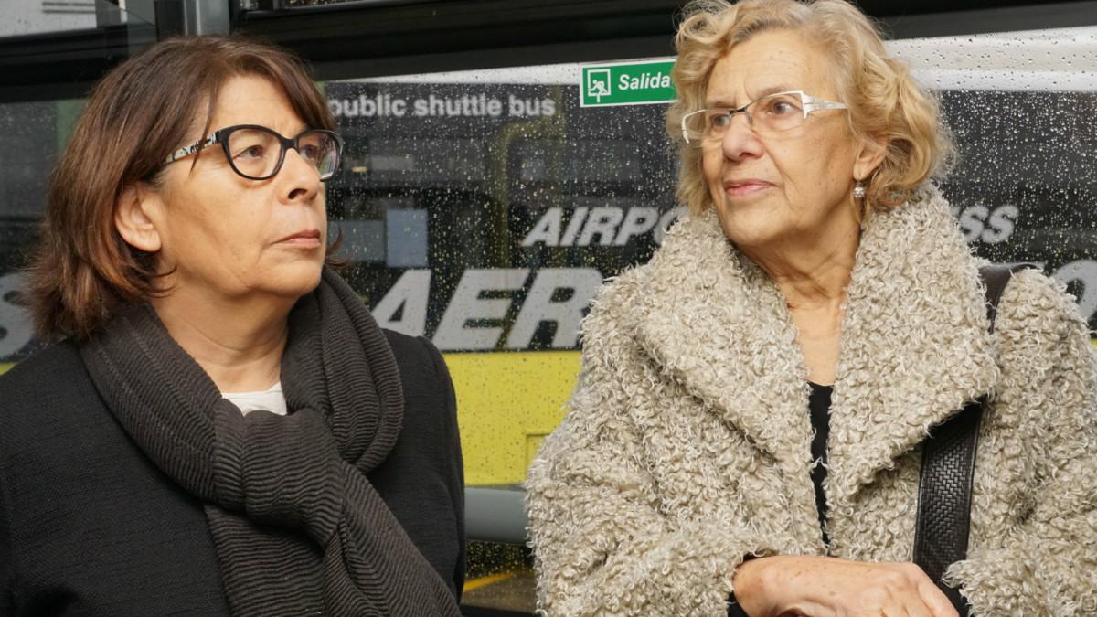 La edil de Movilidad, Inés Sabanés, junto a Manuela Carmena. (Foto: Madrid)