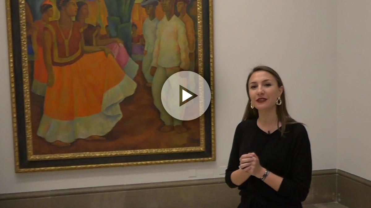 «El baile de Tehuantepec»  de Diego Rivera de la Colección Consentini en la Real Academia de Bellas Artes de San Fernando.