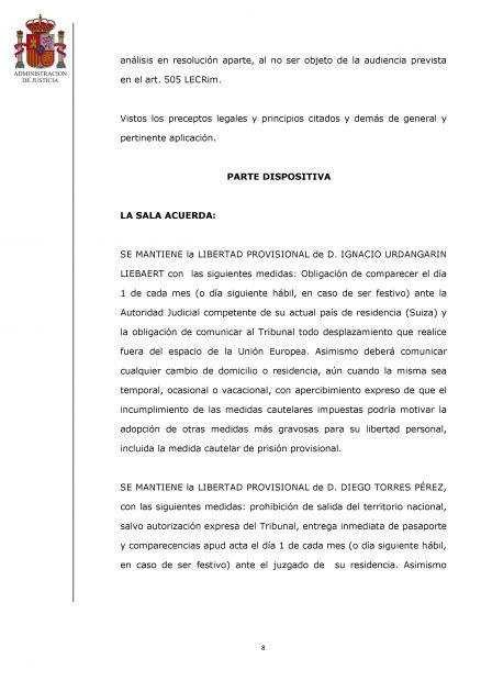 Auto de la Audiencia Provincial de Palma.